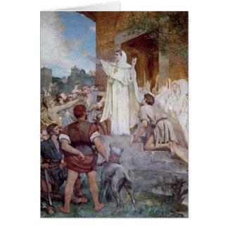 St Genevieve que calma el Parisians Tarjeta