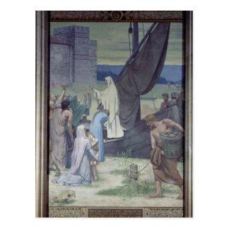 St. Genevieve que trae fuentes Tarjetas Postales