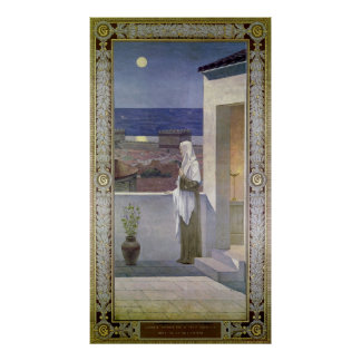 St. Genevieve Watches Over the Sleeping City Poster