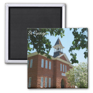 St George 2 Inch Square Magnet