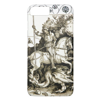 ST. GEORGE AND DRAGON , Black White iPhone 7 Plus Case