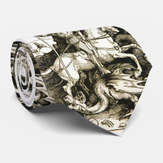 ST. GEORGE AND DRAGON , Black White Tie