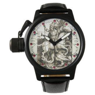 ST. GEORGE AND DRAGON , Black White Wrist Watch