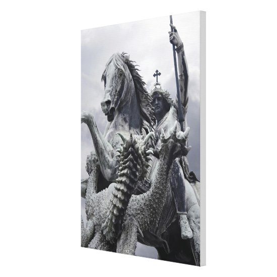 St George and Dragon by Eduard Kiss Canvas Print