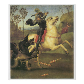 St. George and the Dragon, 1505 Raphael Poster