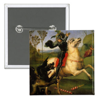 St George and the Dragon Pinback Button