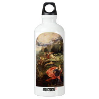 St. George and the Dragon by Tintoretto Aluminum Water Bottle