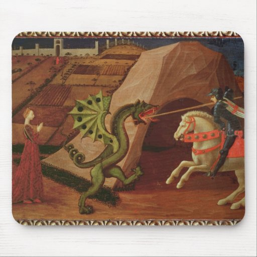 St. George and the Dragon, c.1439-40 Mouse Pad