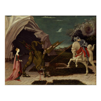 St George and the Dragon c 1470 Postcard