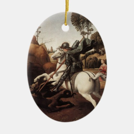 St George and the Dragon Ceramic Ornament