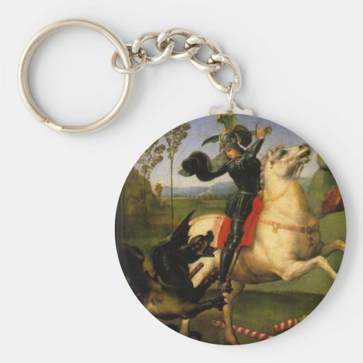 St George and the Dragon Key Chain