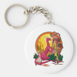 St.George and the Dragon Keychain