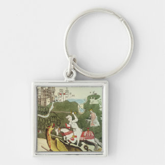 St. George and the Dragon Key Chain