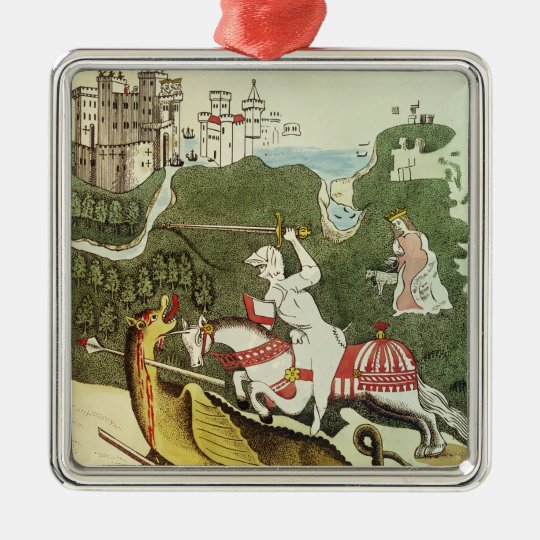 St. George and the Dragon Metal Ornament
