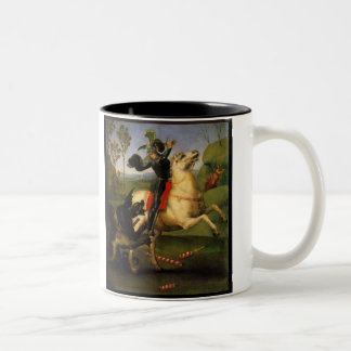 St George and the Dragon Two-Tone Coffee Mug