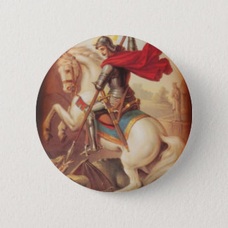 St. George and the Dragon Pinback Button