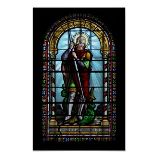 St George and the dragon print print