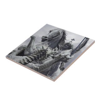 St George and the Dragon Small Square Tile