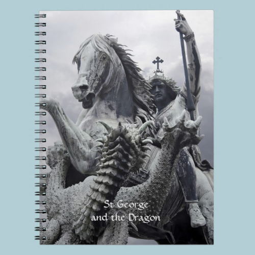 St George and the Dragon Spiral Notebooks