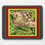 St. George and the Dragon  ~ Vintage Art Nouveau Mousemat