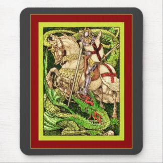 St George and the Dragon Vintage Art Nouveau Mousemat