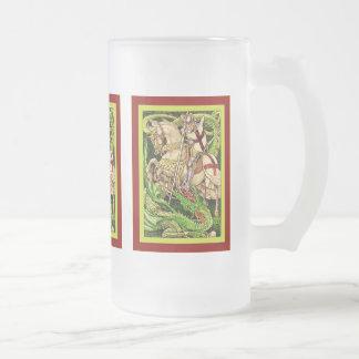 St. George and the Dragon  ~ Vintage Art Nouveau Mugs