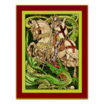 St. George and the Dragon  ~ Vintage Art Nouveau Poster