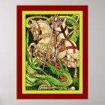 St. George and the Dragon  ~ Vintage Art Nouveau Poster
