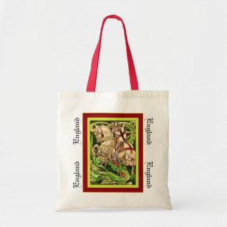 St. George and the Dragon  ~ Vintage Art Nouveau Tote Bag