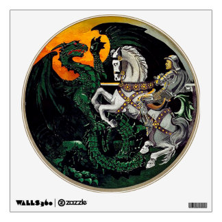 St George And The Dragon - Vintage Wall Decal