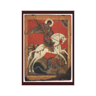 St. George And The Dragon Wrapped Canvas Print
