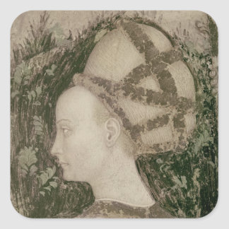 St. George and the Princess of Trebizond Square Sticker
