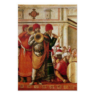 St. George Baptising the Gentiles Poster