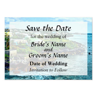 St. George Bermuda Shoreline Save the Date Card