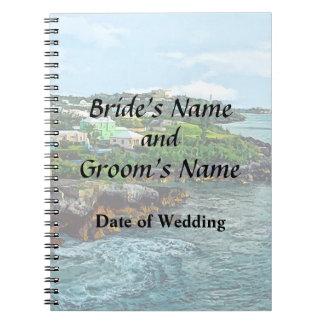 St. George Bermuda Shoreline Wedding Products Notebook