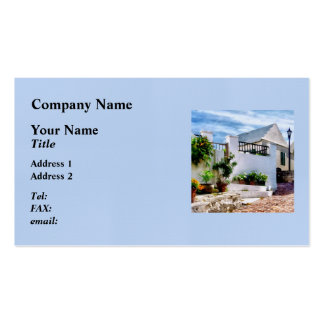 St George Bermuda - Sunny Street Business Card