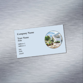 St George Bermuda - Sunny Street Business Card Magnet