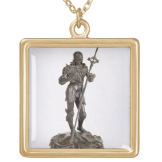 St. George (bronze) Gold Plated Necklace