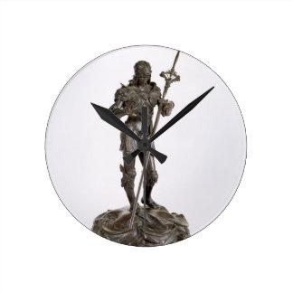St. George (bronze) Round Clock