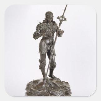 St. George (bronze) Square Sticker