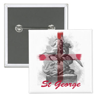 St George 2 Inch Square Button