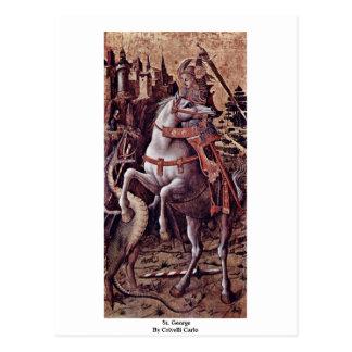 St. George By Crivelli Carlo Postcard