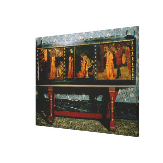 St. George cabinet, 1861 (oak with painted panels) Canvas Print