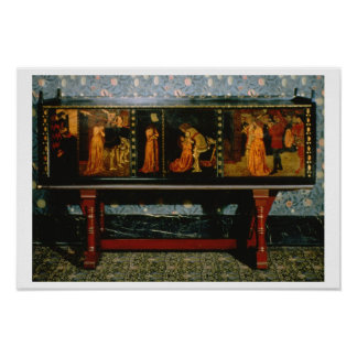 St. George cabinet, 1861 (oak with painted panels) Poster