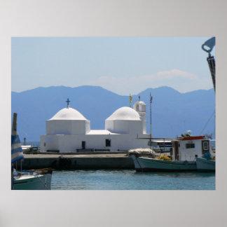 St. George Church, Aegina Island, Greece Print