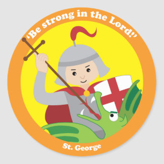 St. George Classic Round Sticker