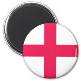 St George Cross 2 Inch Round Magnet