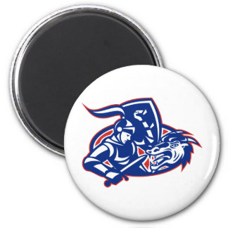 st. george fighting dragon with sword retro refrigerator magnets