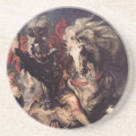 St George Fighting the Dragon Beverage Coaster