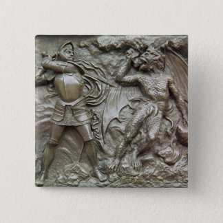 St. George Fighting the Dragon Button